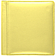 RODEO YELLOW pebble-grain leather #106 scrapbook album by Raika�