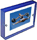 The original acrylic MAGNET FRAME with cobalt blue edge by Canetti�