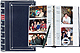 BI-DIRECTIONAL Navy Blue slide-in pocket albums with Memo