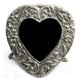 Mini-heart in silvered pewter by Elias Artmetal�