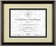 Black with Gold Accent Document Frame by DAX/Connoisseur�