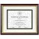 Rosewood document frame w/mat by DAX/Connoisseur�