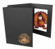 Happy Thanksgiving copper foil designon black cardboard photo folder