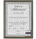 Black metallic-look document frame w/gold accent by Intercraft�