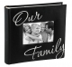 Embroidered OUR FAMILY album by Malden� holds 200 photos