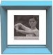 Float your print between clear glass and powder-blue mouldings by Dennis Daniels�