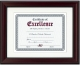 Rosewood and Black certficate double matted frame by DAX/Connoisseur�