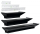 METROPOLITAN black wall ledges (set of 3) by Level-Line�