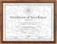 Teak and Gold Document frame by DAX/Connoisseur�