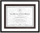 DELANCY Black & Pewter float certificate frame by Burnes�