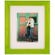 Green glazed metal frame with white mat by Dennis Daniels�
