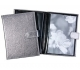Metallic-Silver Fine Leather BRAG BOOK for 20 printsby Graphic Image�
