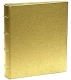 The Post Impressions� System standard 3-ring Saffiano Golden-Tan Eco-Leather binder (unfilled)