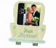 JUST MARRIED ivory enamel frame by Prinz�