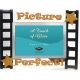 PICTURE PERFECT special event celebration glass frame