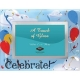 CELEBRATE! special event colorful glass frame