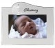 CHRISTENING two-tone silver frame by Malden Design�
