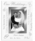 Clear Expressions WEDDING DAY glass wallet-size keepsake