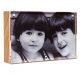 The original acrylic MUSEUM MAGNET FRAME with natural wood back