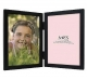 WILLOW WOODS Double Black hinged 5x7 frame by MCS�