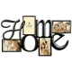 HOME Wall Words in copper wire 4-opening collage by Burnes�