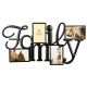 FAMILY Words frame in copper wire 4-opening collage by Burnes�