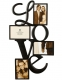 LOVE WALL WORDS copper wire 4-opening collage by Burnes�