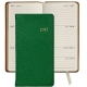 2015 Brights-GREEN 6 Pocket Datebook Diary in Fine Leather by Graphic Image�