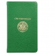 Palm-size ON THE GREEN includes Golf Rules in Brights-Green leather by Graphic Image�