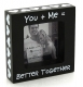 YOU + ME = BETTER TOGETHER ceramic picture frame by Our Name is Mud�