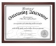 Walnut-brown wood certificate frame by Malden Designs�