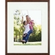Walnut-Brown TRIBECA archival matted wood frame 8x10/5x7 from ARTCARE� by Nielsen�