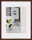 Bamboo CONTEMPORARY Mocha-Brown stain matted 11x14/8x10 frame by Nielsen�