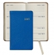 2015 Brights Blue 5 Pocket Datebook Diary in Fine Leather by Graphic Image�