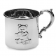 Heirloom quality fine sterling silver BABY BEAR CUP by Empire Silver�
