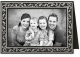 Embossed BLACK HOLLY BORDERpremium photo insert Holiday Card (sold in 25s)
