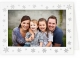 Embossed SNOWFLAKESpremium photo insert Holiday Card (sold in 25s)