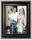 DORSET BLACK w/Silver trim beveled frame by Malden Design�