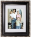 DORSET BLACK w/Silver trim 14x18/10x13 beveled/matted frame by Malden Design�