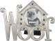 WOOF DOGHOUSE Pewter Icons frame by Malden�
