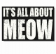 ITS ALL ABOUT MEOW 12x8x2 Distressed-Distressed-Wood Box Sign by Sixtrees�