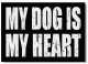 MY DOG IS MY HEART 7x5 Distressed-Wood Box Sign by Sixtrees�