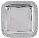 TRIPLE PEARLS SQUARE PLATTER (medium) 12�x12� by Mariposa�