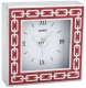 The original SILVER LINKS POPPY-RED Clock by Reed & Barton�