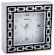 The original SILVER LINKS Midnight Black Clock by Reed & Barton�