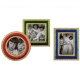 (set of 3) Faberge Reproduction enamel + crystal frames from The Metropolitan Museum of Art�