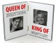QUEEN AND KING Hinged Double 3x3 Frame by Enesco�