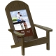 EASY LIVING Adirondack Chair Brown 4x6 frame in natural pine