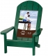 EASY LIVING Adirondack Chair Green 4x6 frame in natural pine
