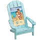 EASY LIVING Adirondack Chair Aqua 4x6 frame in natural pine by Prinz�